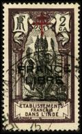 N°177a, 2 Ca. Brun-violet Et Noir, Surcharge France Libre En Noir, Oblitéré, TB