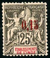 N°27, 0,15 Sur 25 C. Noir Sur Rose, TB