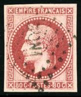 Colonies Générales N°10, 80 C. Rose, Oblitéré Losange INDE, TB
