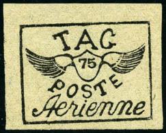 Poste Aérienne N°10C, 75 C. Noir Sur Gris, Superbe