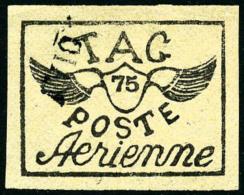 Poste Aérienne N°10, 75 C. Noir Sur Paille, Oblitéré, Superbe