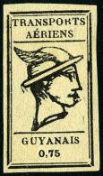 Poste Aérienne N°6A, 0,75 Noir Sur Gris, Superbe