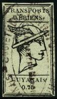 Poste Aérienne N°6, 0,75 Noir Sur Bleuté, Oblitéré, TB