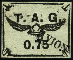 Poste Aérienne N°4A, 75 C. Noir Sur Gris, Oblitéré, TB