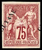 N°14, 75 C. Carmin, Surcharge Décalée, TB