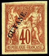 N°13, 40 C. Rouge-orange, Superbe