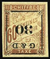 Taxe N°13b, 30 Sur 60 C. Brun Sur Chamois, Surcharge Renversée, TB