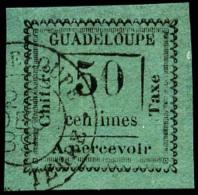 Taxe N°12a, 50 C. Vert-bleu, Oblitéré, Superbe