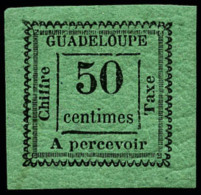 Taxe N°12a, 50 C. Vert-bleu, Superbe