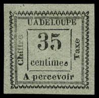 "Taxe N°11a, 35 C. Gris, Variété ""UADELOUPE"", Superbe"