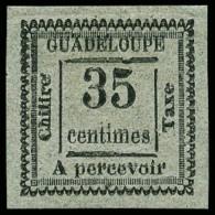 Taxe N°11, 35 C. Gris, Double Impression, Superbe
