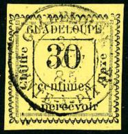 Taxe N°10, 30 C. Jaune, Oblitéré, TB