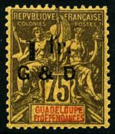 N°49f, 1 F. Sur 75 C. Violet Sur Jaune, Chiffres Renversés, TB
