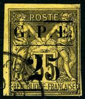 N°2a, 25 C. Sur 35 C. Violet-noir Sur Jaune, 25 Avec Gros 2, Oblitéré, TB