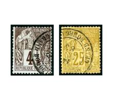Colonies Générales N°48, 53 (l. D.), Les 2 Valeurs Avec Càd De Grand-Bourg, TB