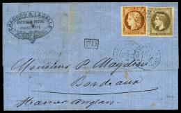 Colonies Générales N°9 Et 13, Oblitérés Losange De Points Sur LSC Avec Càd Du 27
