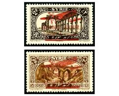 Non-émis : Surcharge Bilingue De 1928-30 Sur Timbres De Syrie 2 Pi. Sépia Et 3 Pi. Brun, Superbe
