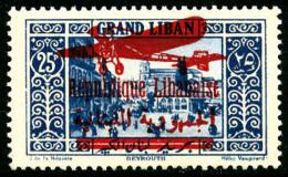 Poste Aérienne N°37, 25 Pi. Bleu, TB