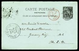 """Entier 10 C. Alphée Dubois, Oblitéré De Libreville, Càd """"LIVERPOOL/SHIP"""" Et Arrivée A"""