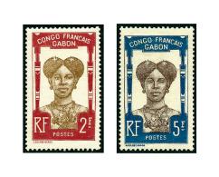 N°33/48, Légende CONGO FRANCAIS -  GABON, Les 16 Valeurs, TB (photo Des N°47 Et 48)