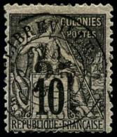 N°9, 25 Sur 10 C. Noir Sur Lilas, Oblitéré, TB