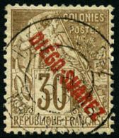N°21, 30 C. Brun, Oblitéré, TB