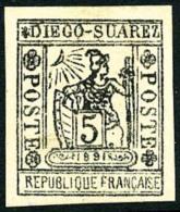 N°10, 5 C. Gris-noir, TB