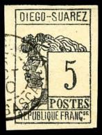 N°7, 5 C. Gris-noir, Oblitéré, Superbe