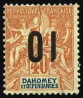N°39a, 10 Sur 40 C. Rouge-orange, Surcharge Renversée, TB