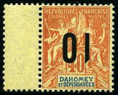 N°39a, 10 Sur 40 C. Rouge-orange, Surcharge Renversée, Avec Interpanneau, TB