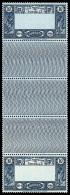 N°168a, 10 F. Bleu Foncé, Centre Omis, Paire Verticale Avec Interfeuille, Superbe