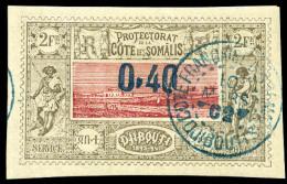 N°25, 0,40 Sur 2 F. Brun-gris Et Rose, Oblitéré, TB