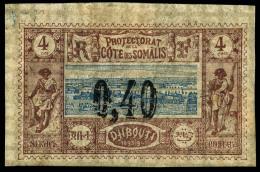 N°22, 0,40 Sur 4 C. Brun-lilas Et Bleu, TB
