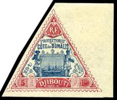 N°19, 5 F. Rose Et Bleu, Bord De Feuille, Superbe