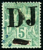 N°1Ad, 5 C. Vert, Surcharge Avec Double Barre, Oblitéré, TB