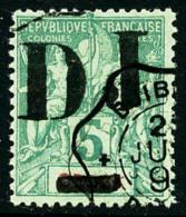 N°1, 5 C. Vert, Oblitéré, TB
