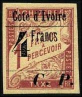 Colis Postaux N°21, 4 F. Sur 1 F. Rose Sur Paille, TB