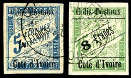 Colis Postaux N°16/17, Les 2 Valeurs Oblitérées, TB