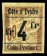 Colis Postaux N°11, 4 F. Sur 60 C. Brun Sur Chamois, TB