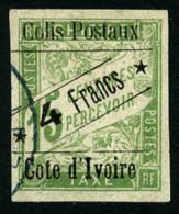 Colis Postaux N°9c, 4 F. Sur 15 C. Vert, Sans Accent, Oblitéré, TB
