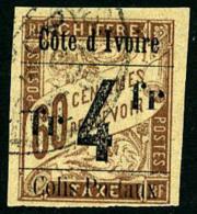 Colis Postaux N°11j, 4 F. Sur 60 C. Brun, Sans Accent, Oblitéré, TB