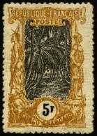 N°41d, 5 F. Jaune-orange Et Noir, Filigrane Branche De Rosier, TB