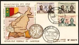 N°332/34, Réunification Surchargés, Les 3 Valeurs Oblitérées Sur Enveloppe 1er Jour, TB