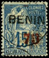 N°16, 75 Sur 15 C. Bleu, Surcharge Rouge, Oblitéré, TB