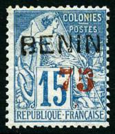 N°16, 75 Sur 15 C. Bleu, Surcharge Rouge, TB