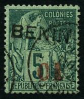 N°14, 01 Sur 5 C. Vert, Oblitéré, TB