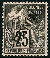 N°8, 25 C. Noir Sur Rose, Bon Centrage, TB