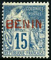 N°6B, 15 C. Bleu, Surcharge Rouge, Superbe