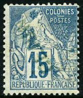 N°6Aa, 15 C. Bleu, Surcharge Bleue Renversée, TB