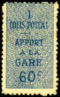 Colis Postaux N°7A, 60 C. Bleu, Non-émis, Légère Rousseur Sinon TB